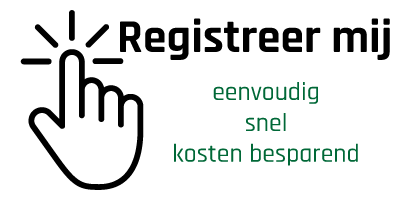 Registreer online je contact gegevens Logo